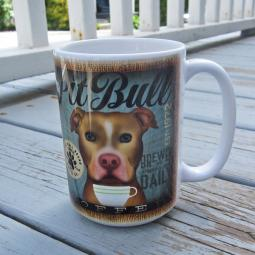 Red Nose Pit Bull Coffee Company Mug