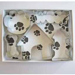 Woof Dog Five Piece Cookie Cutter Set